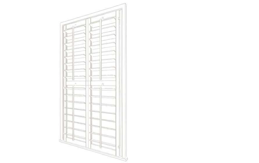 Full height shutters technical drawing