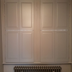 Solid Georgian shutters