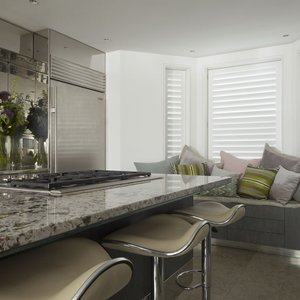 Manhattan living room shutters