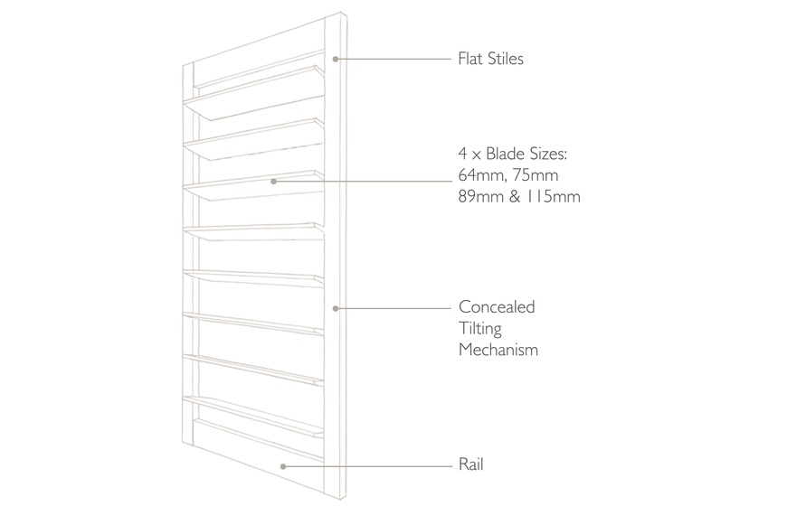 Technical drawing highline Shutters
