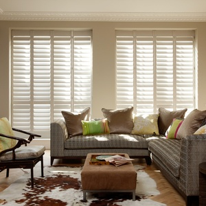 tnesc New York painted full height living room shutters 99mm