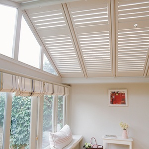 Tnesc Soho painted Conservatory roof shutters 89mm