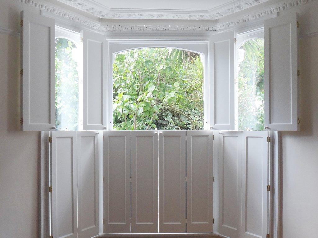 Solid wood shutters victorian shutters tnesc - Solid panel interior window shutters ...