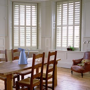 Manhattan kitchen shutters Full height 115mm blades Painted