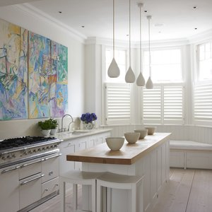 Manhattan kitchen shutters Café style  89mm blades Painted