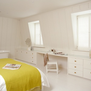 New England bedroom shutters