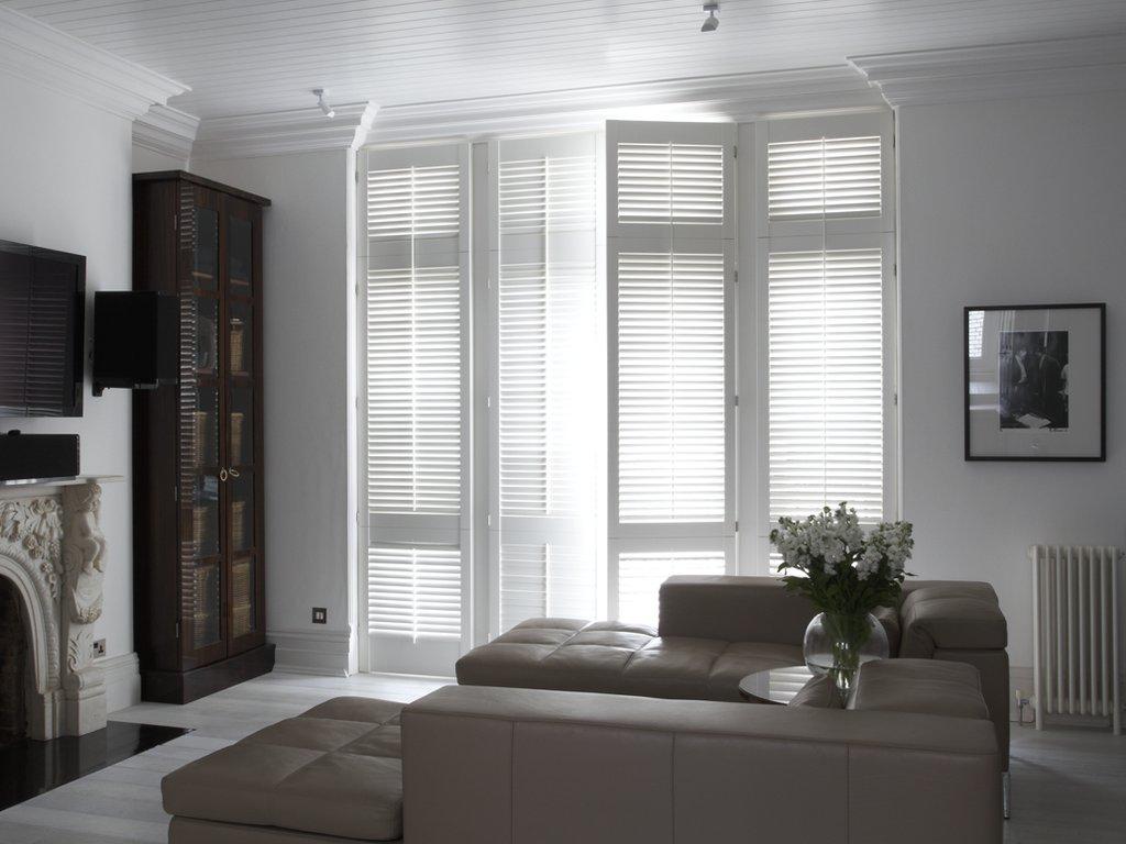 White Shutters Living Room