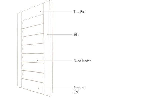 Tnesc Solid Fixed Shutter technical drawing
