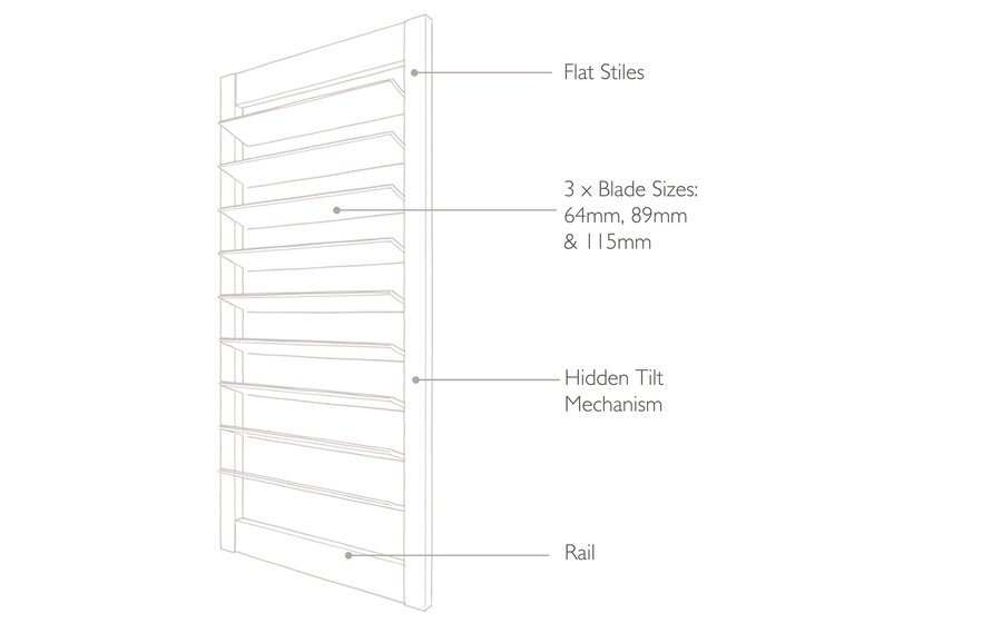 Technical drawing Soho Shutters