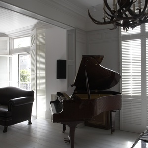 Piano room shutters