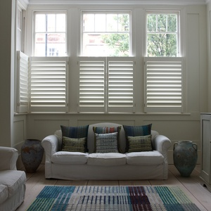 Manhattan painted cafe style shutters