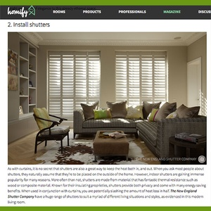 Homify: article on shutters