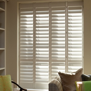 Tnesc New York painted Full Height Living room shutters 99mm blades