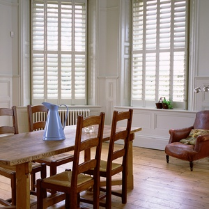 Manhattan Painted full height kitchen shutters