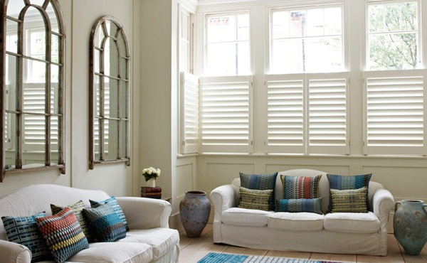 Bespoke Living Room Shutter Gallery The New England Shutter Company