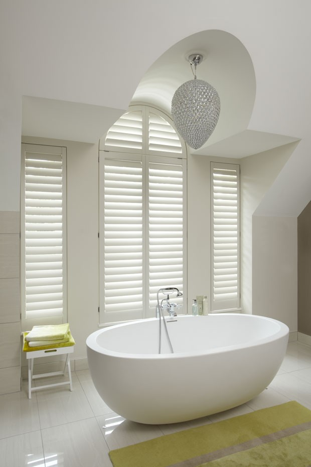 Manhattan bathroom shutters