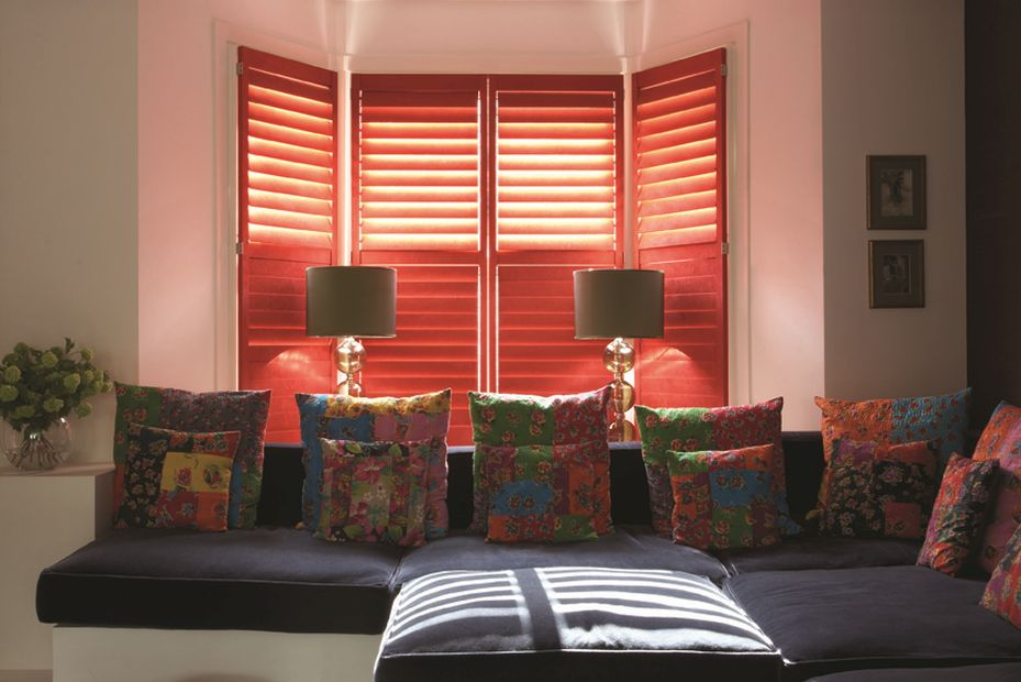 December leather look shutters