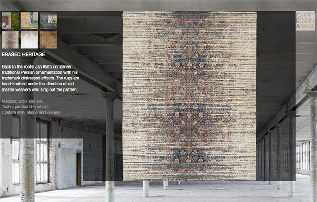 Woven rug by Jan Kath, heritage collection