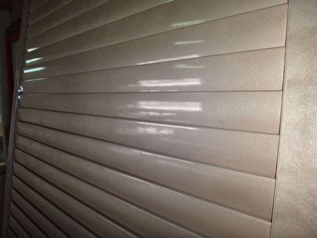 Gold metallic finish shutters