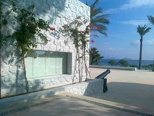 The New England Shutter Company shutters fitted in Greece by our agent Kinoussis