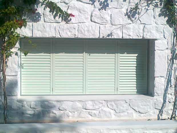 Shutters in Spetses, Greece