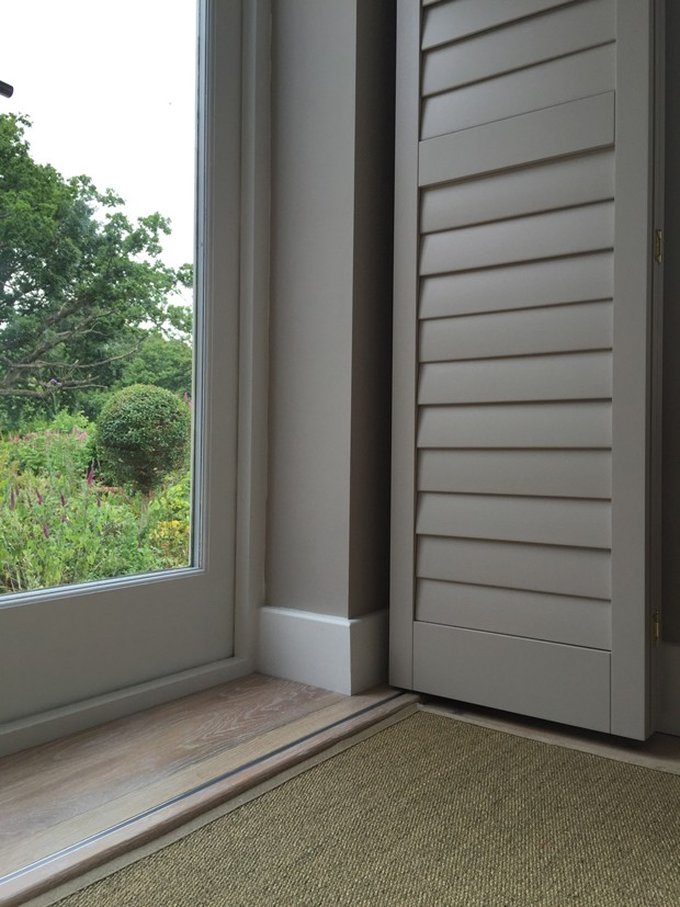 Manhattan design bi-folding shutters