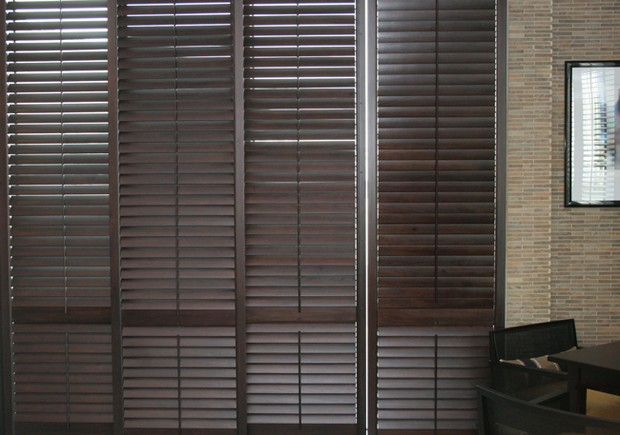 3 metre high solid wooden shutters