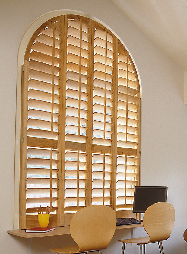 Shapes solid wood shutters
