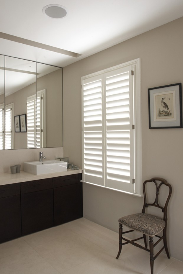 Manhattan bathroom shutters, 89mm blade